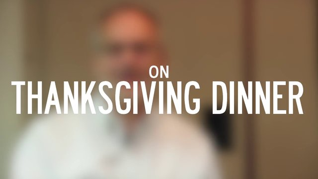 On Thanksgiving Dinner | Robert Tracy McKenzie