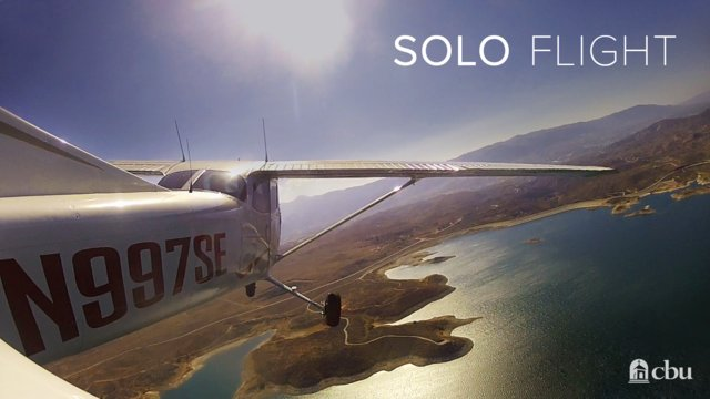 CBU Solo Flight