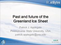 Frostbyte P Appelgate: Past and future of the Greenland Ice Sheet