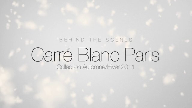 shooting a hiver 2011 carr blanc paris on vimeo. Black Bedroom Furniture Sets. Home Design Ideas