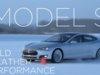 Tesla Model S i koldt vintervejr