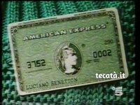American Express con Luciano Benetton (1987)