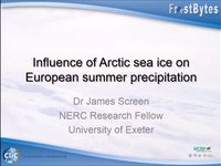Frostbyte J Screen: Influence of Arctic sea ice on European summer precipitation