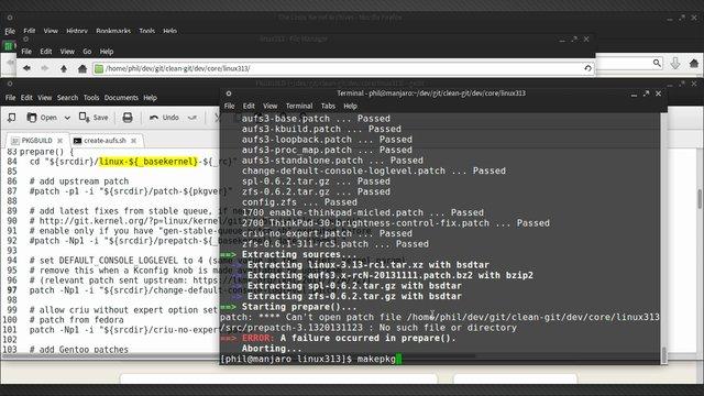 Manjaro - compile linux313-rc1