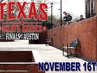Texas Skate Series 2013 Finals in Austin Texas  This competition wraps up the second season of the  Texas Skate Series.  1st place Mason Richard  2nd place Jarrod Banning  3rd place Andrew Broom  Congratulations to all the competitors and thanks to everyone who  supported the TSS.  A big thank you is in order to William Kennedy for organizing the TSS  and giving us all something to look forward to every few months.  It is just going to get bigger and better!  Oh yeah...and buy some wheels!  www.sicurethane.com