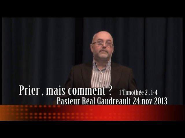 Prédication du 24 novembre 2013