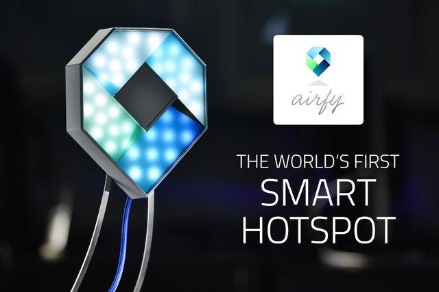 airfy - world's first smart WiFi HotSpot
