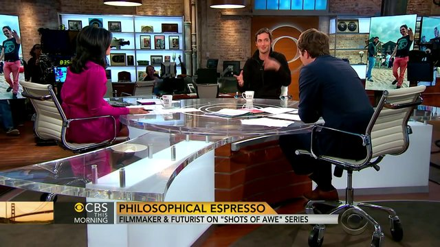 Jason Silva on CBS NEWS discussing Existentialism, Shots of Awe, and the Existential Bummer