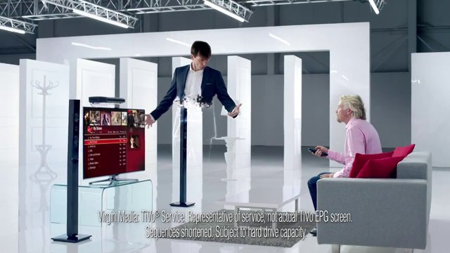 Virgin Media TiVo Undelete commercial shot with the TItan