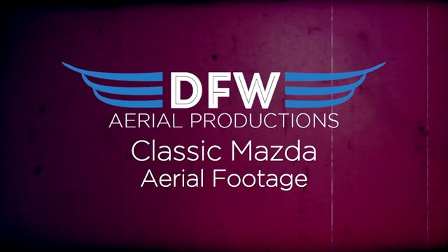 Classic Mazda in DFW Aerial Shoot