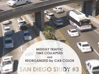 Image for Midday Traffic Time Collapsed and Reorganized by Color: San Diego Study #3