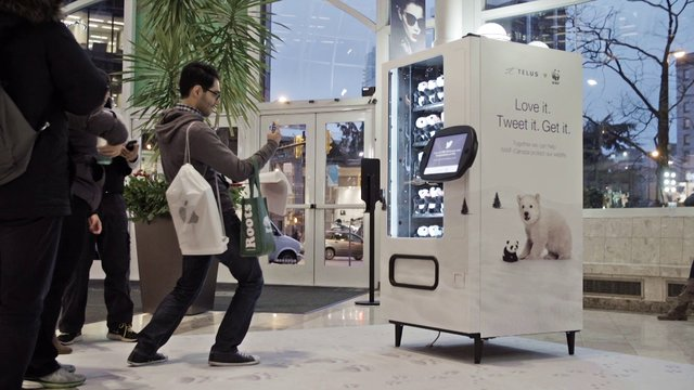 Telus Twitter Powered Vending Machine