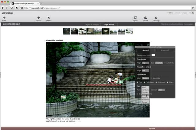 Viewbook visual editor