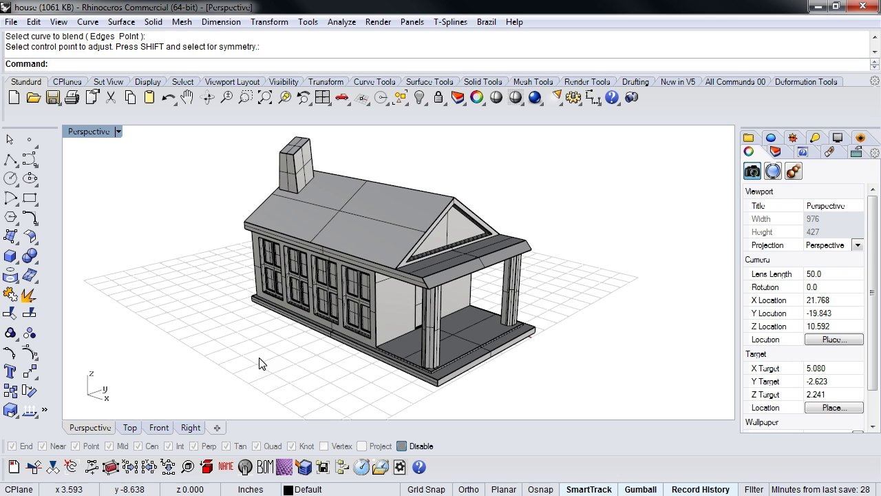 Rhino 5 for sketchup users on vimeo for Home design 3d 5 0 crack