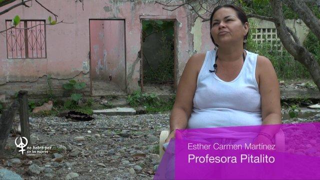 Esther Martínez, maestra de Pitalito