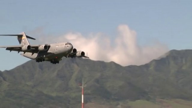 C-17 Lands at Wheeler Army Airfield