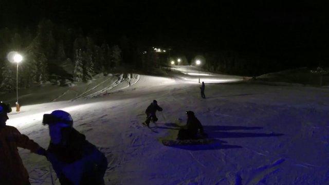 One run - Corvatsch Night skiing