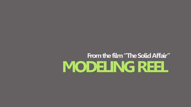 """The Solid Affair"" Modeling Reel"