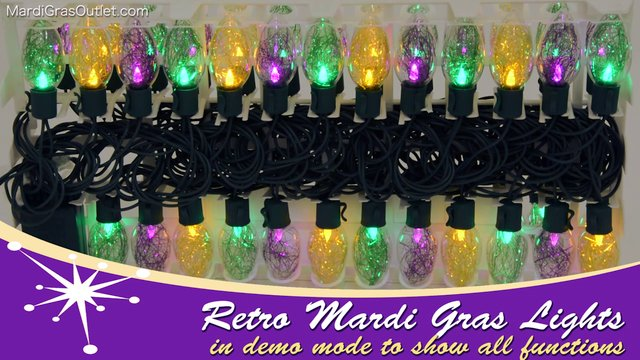Led Mardi Gras String Lights : Retro Bulb LED Mardi Gras Multi-Function Lights on Vimeo