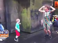 Kid Takes over Street Performance