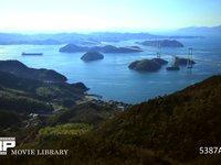 来島海峡の潮の流れ 微速度撮影 しまなみ海道 来島大橋と海流