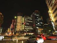 神戸市内 交差点 微速度撮影 神戸市の交差点の夜景