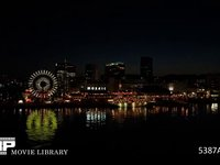 神戸ハーバーランドの夜景 微速度撮影 ハーバーランドモザイクガーデンの日没から夜景まで