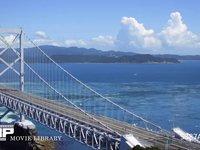 鳴門の潮流 微速度撮影 鳴門大橋を望む鳴門海峡の展望台より