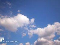 青空と雲の微速度撮影 空のみ 左から右