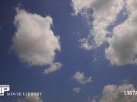 青空と雲の微速度撮影 空のみ 奥から手前