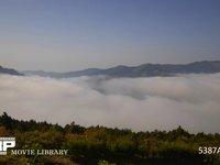消えて行く雲海 微速度撮影 朝出ていた雲海が日が高くなると消えて行きます