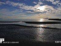引き潮の微速度撮影 瀬戸内海の遠浅の砂浜です