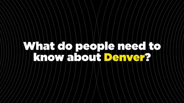 Send Denver:This Is My City