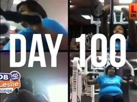 Woman Films Herself Through 100 Days of Workouts