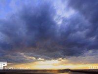 瀬戸内海の夕焼け 微速度撮影 穏やかな夕焼けです