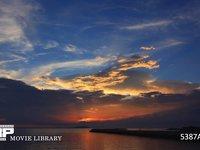 瀬戸内海の夕焼け 微速度撮影 日が沈んでからも赤く焼けます