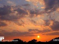 夕焼けと雲 微速度撮影 西向き 南の風