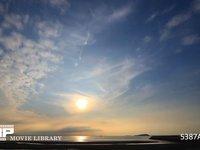 瀬戸内海の夕焼け 微速度撮影 瀬戸内海の夕暮れ風景
