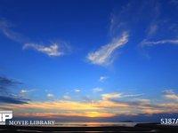 瀬戸内海の夕焼け 微速度撮影 秋の夕焼け