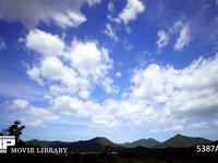 青空と雲の微速度撮影 北向き 北の風