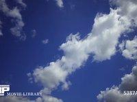 青空と雲の微速度撮影 奥から手前 空のみ 60fps サンプル動画は30fps