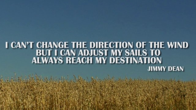 silent journey inspirational quote by jimmy dean on vimeo