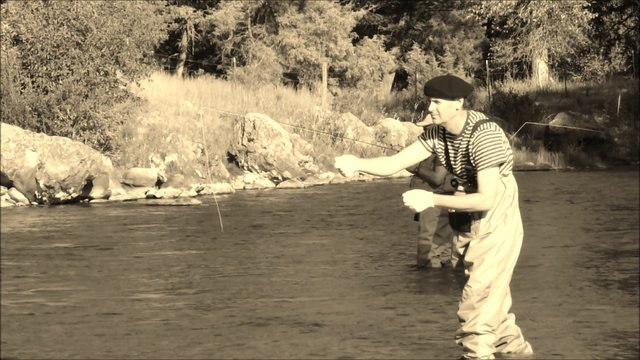 Mime Goes Fishing