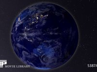 夜の地球 CG 地球の自転イメージ 夜 CG