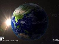 地球の夜明け CG 地球の日の出イメージ 全体 CG