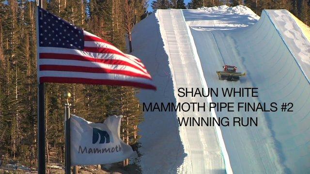 SHAUN WHITE'S WINNING RUN FROM MAMMOTH GRAND PRIX #2
