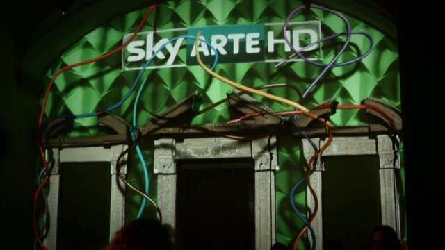3D Pojection mapped scenography for SKY Arte Anniversary