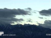 夕暮れ 微速度動画 南アルプスの夕暮れ、左端は甲斐駒岳