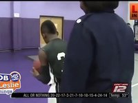 A 13 year old Boy Suprised at the Free Throw Line, His Mom Came Home From War