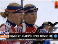 Twin Skier gives up Her Spot on Sking Team for Sister to Go